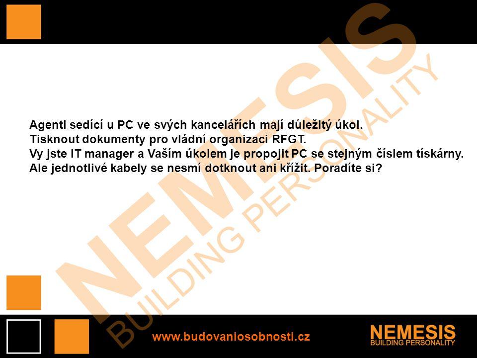 www.budovaniosobnosti.cz Agenti sedící u PC ve svých kancelářích mají důležitý úkol. Tisknout dokumenty pro vládní organizaci RFGT. Vy jste IT manager