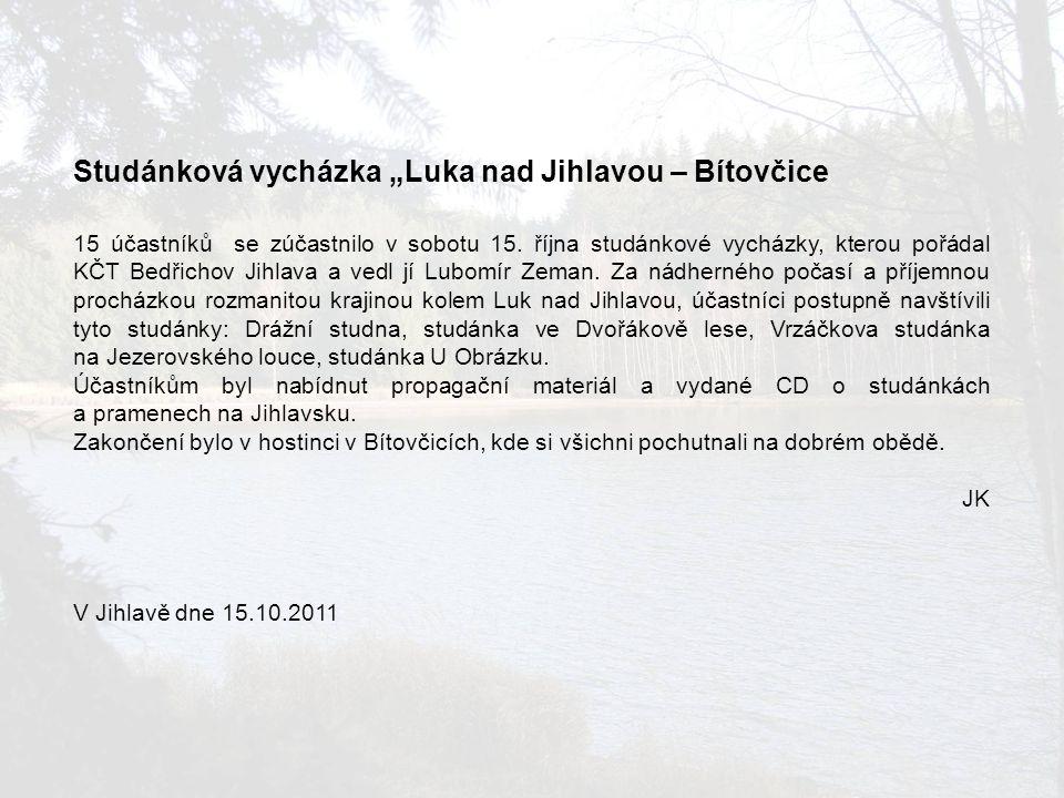 Studánka ve Dvořákově lese foto: Ludmila Haičmanová