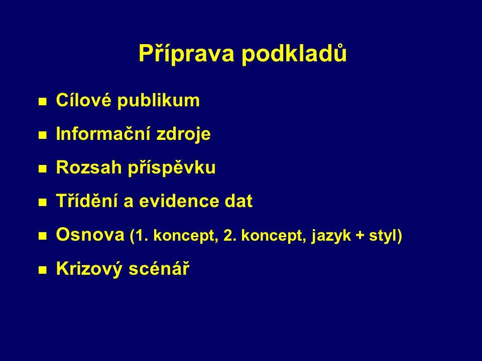 Obecné zásady úspěšné prezentace Vlastní styl n Komunikace s posluchači n Vhodný styl (formálnost x neformálnost) n Vhodná gestikulace (důvěryhodnost)