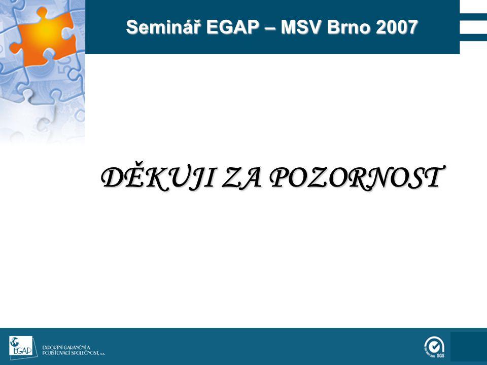 111 Seminář EGAP – MSV Brno 2007 DĚKUJI ZA POZORNOST