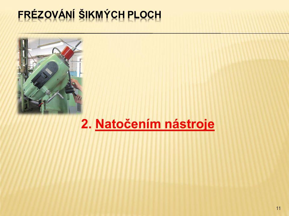 2. Natočením nástroje 11