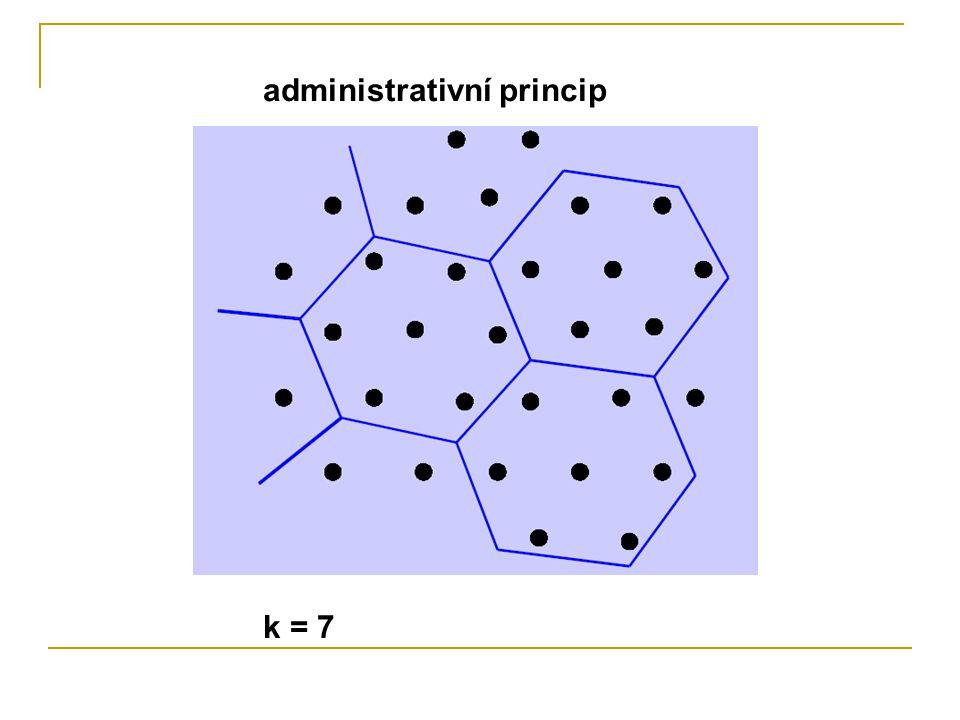administrativní princip k = 7