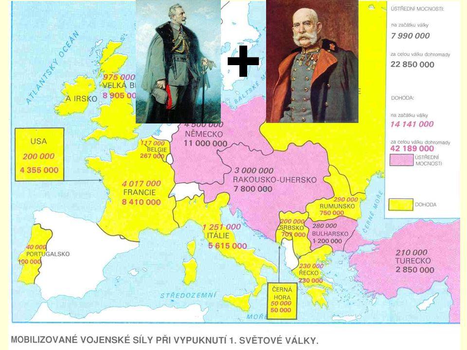 Válečný rok 1914 na obranu Srbska vystoupilo Rusko na obranu R-U vystoupilo Německo