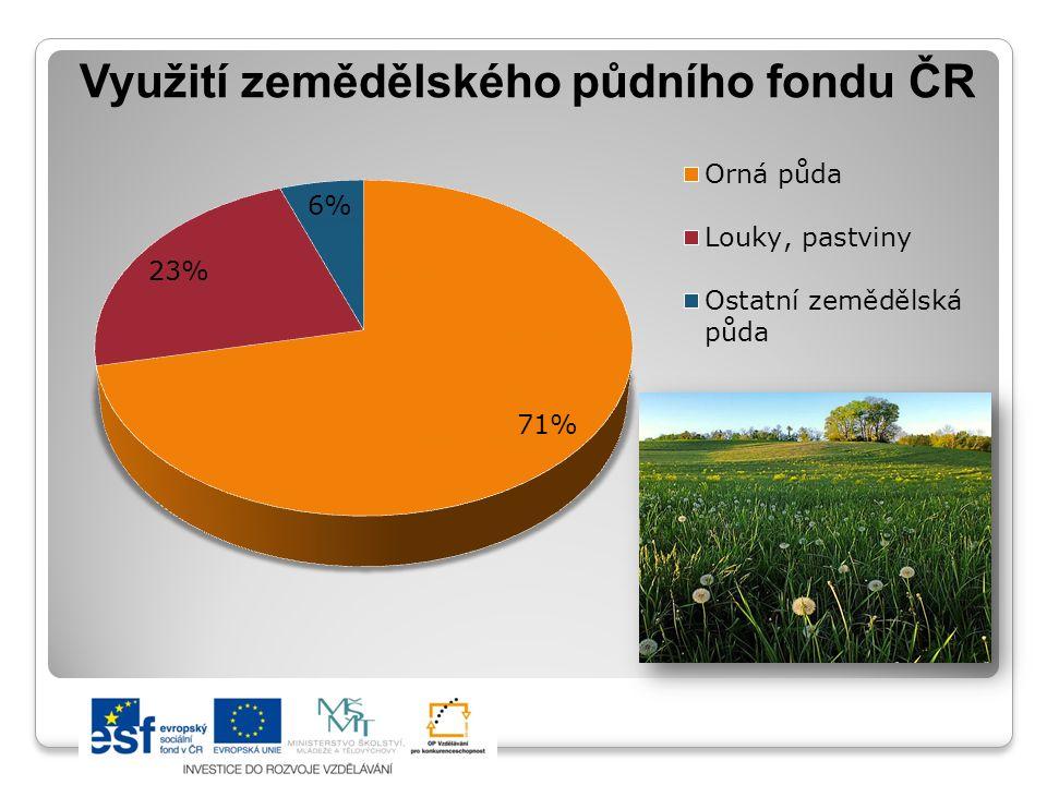 Využití zemědělského půdního fondu ČR