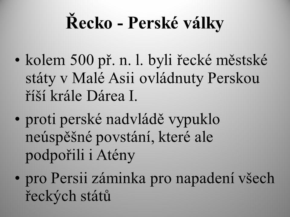 Řecko - Perské války kolem 500 př.n. l.