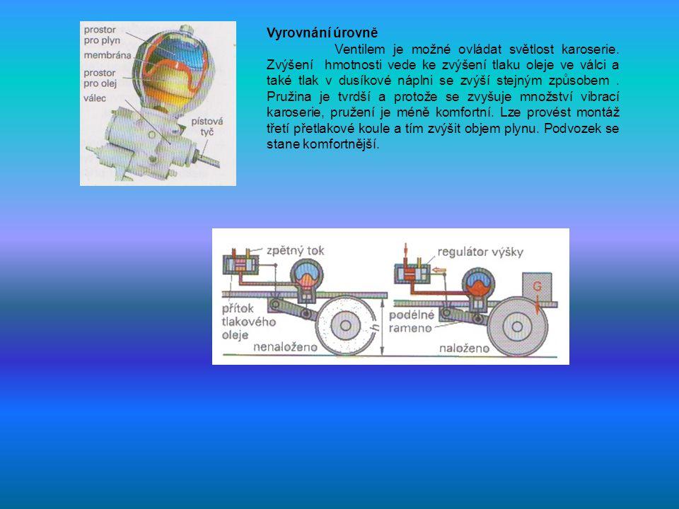 Vyrovnání úrovně Ventilem je možné ovládat světlost karoserie.