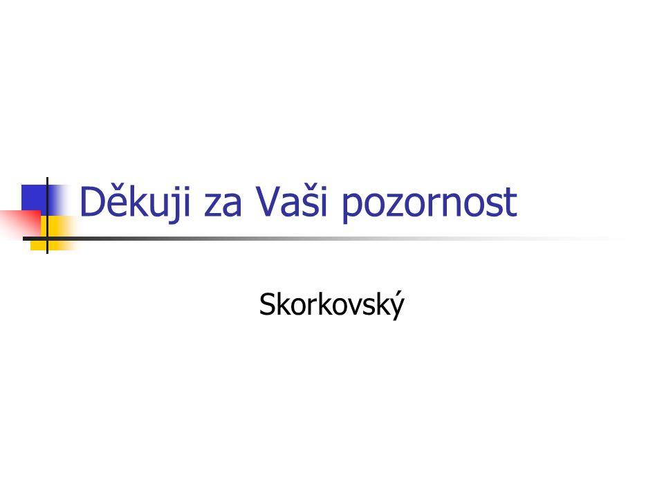 Děkuji za Vaši pozornost Skorkovský