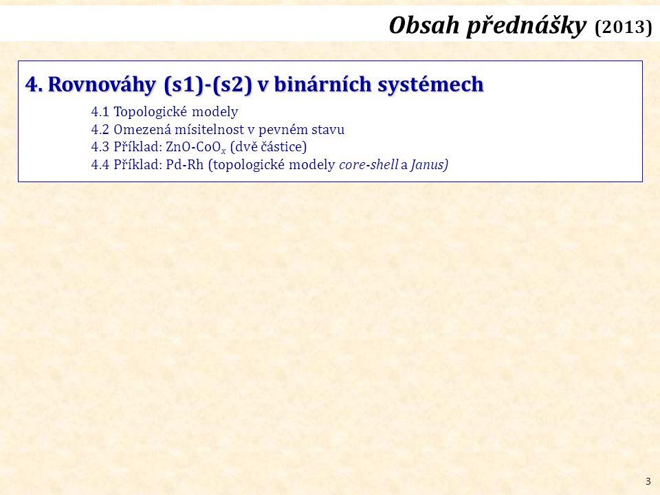 3 Obsah přednášky (2013) 4.