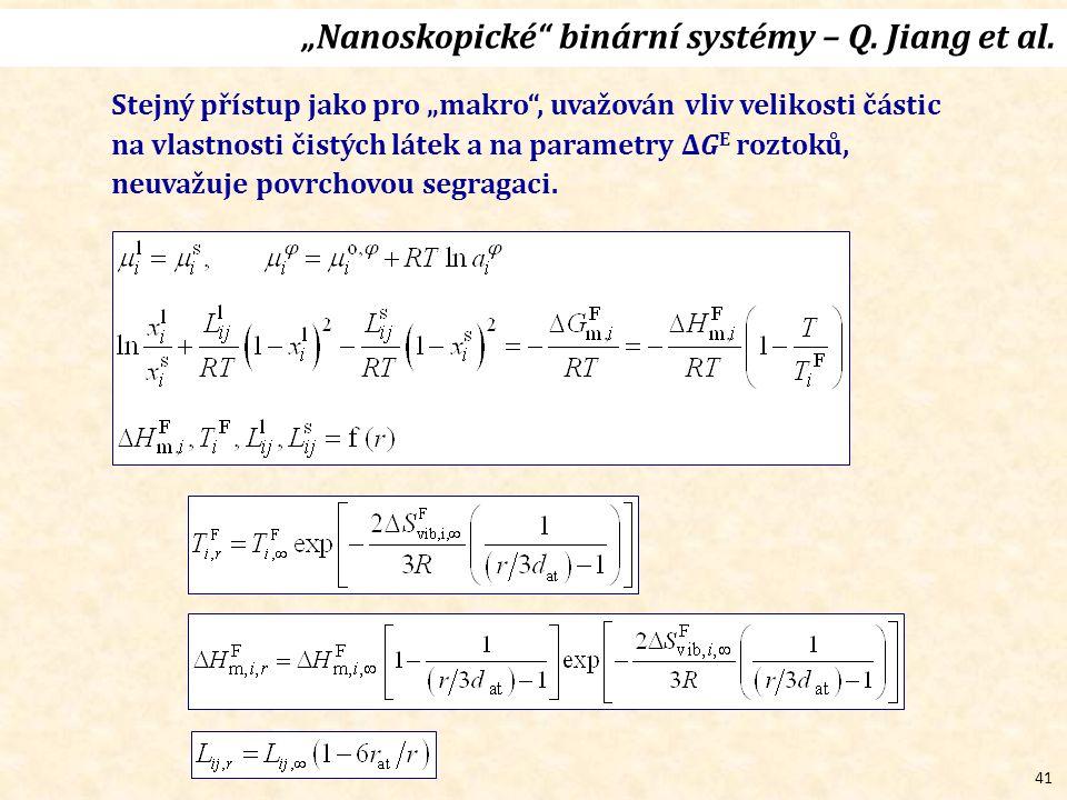 """41 """"Nanoskopické binární systémy – Q.Jiang et al."""