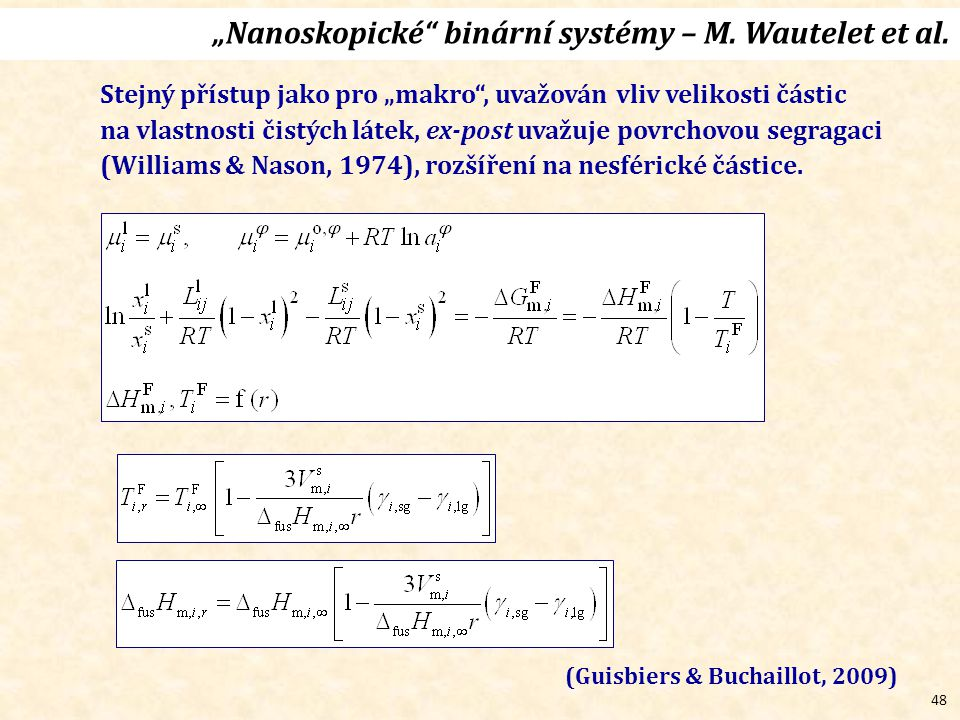 """48 """"Nanoskopické binární systémy – M.Wautelet et al."""