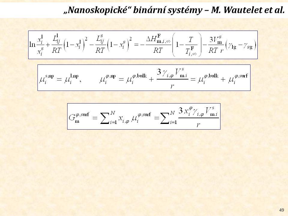 """49 """"Nanoskopické binární systémy – M. Wautelet et al."""