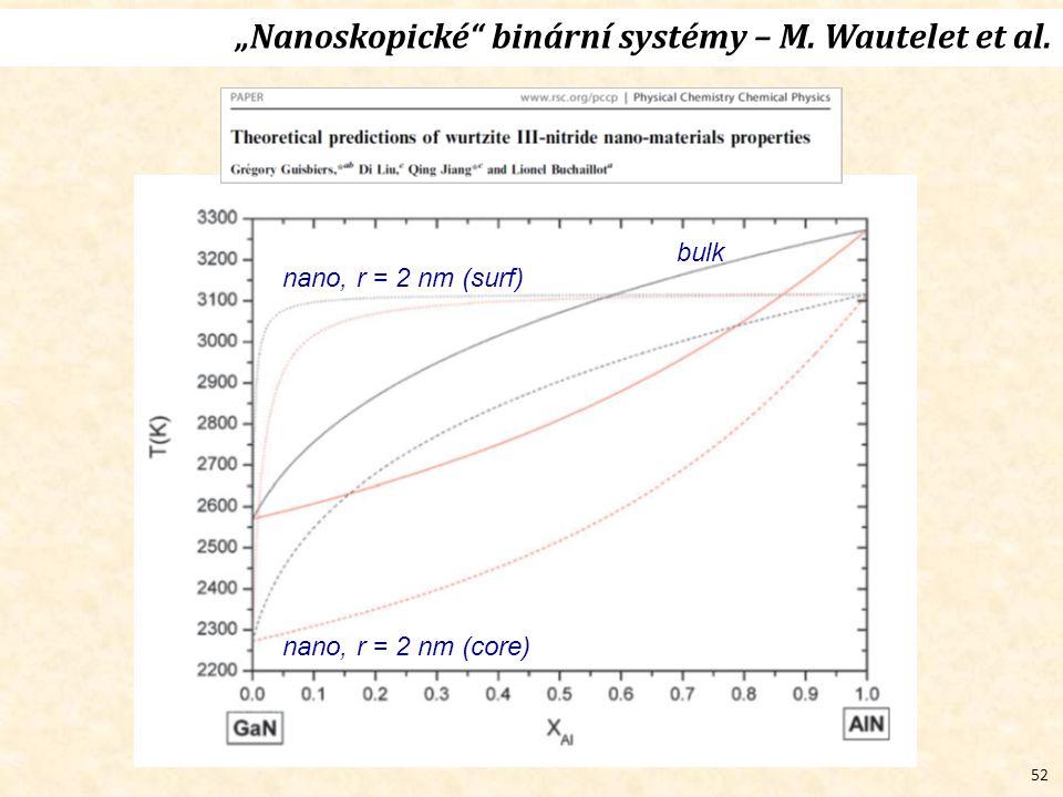 """52 bulk nano, r = 2 nm (core) nano, r = 2 nm (surf) """"Nanoskopické binární systémy – M."""