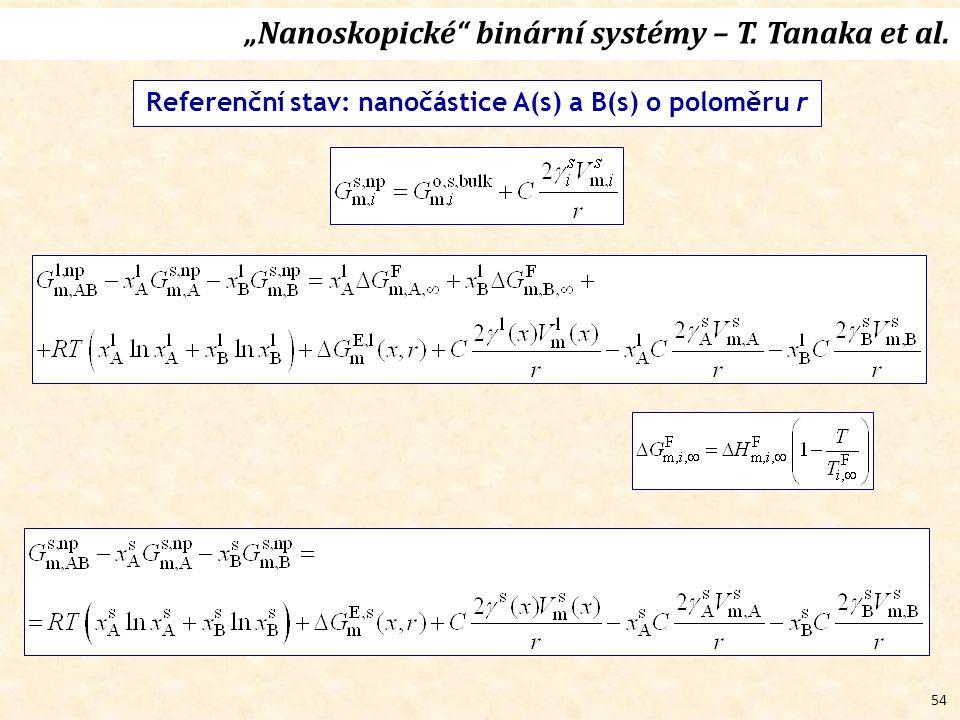 """54 """"Nanoskopické binární systémy – T. Tanaka et al."""
