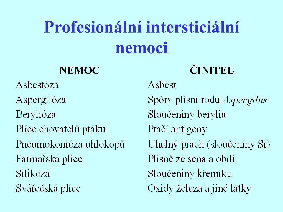 Profesionální intersticiální nemoci