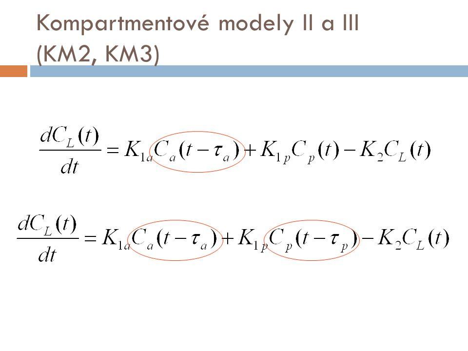 Kompartmentové modely II a III (KM2, KM3)