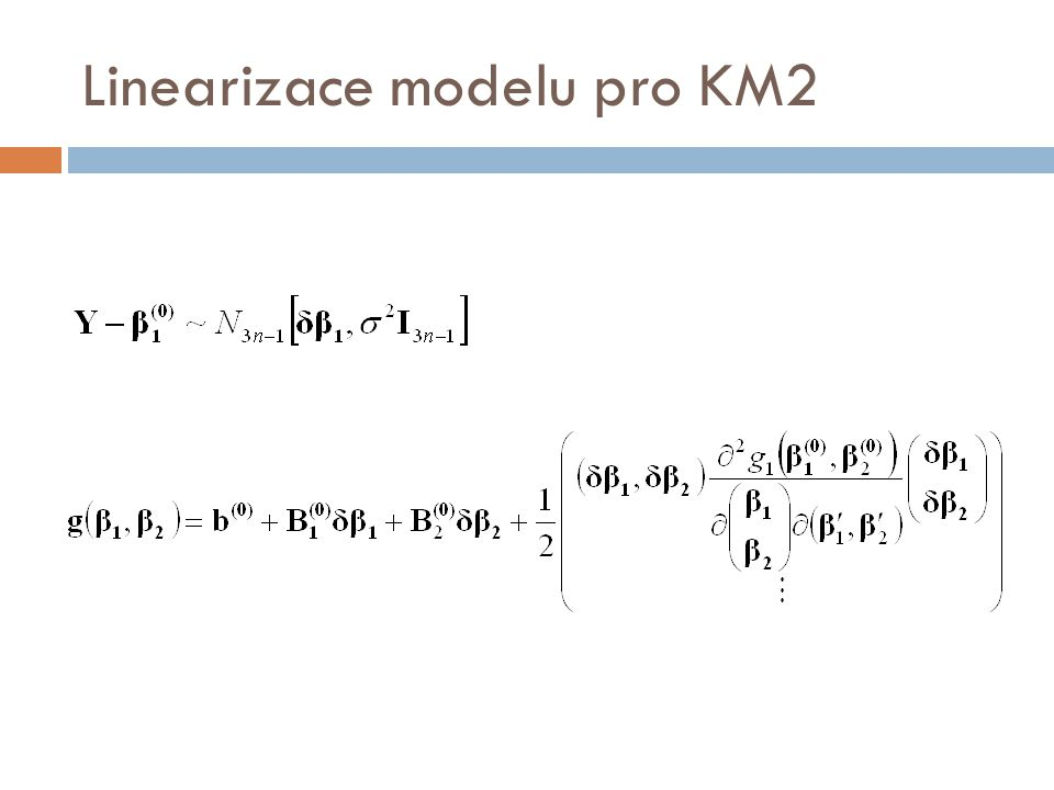Linearizace modelu pro KM2
