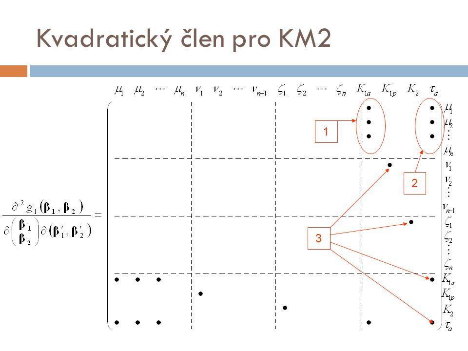 Kvadratický člen pro KM2 3 2 1