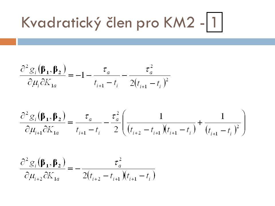 Kvadratický člen pro KM2 - 1