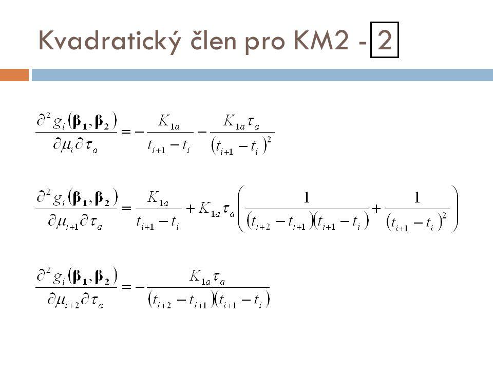 Kvadratický člen pro KM2 - 2