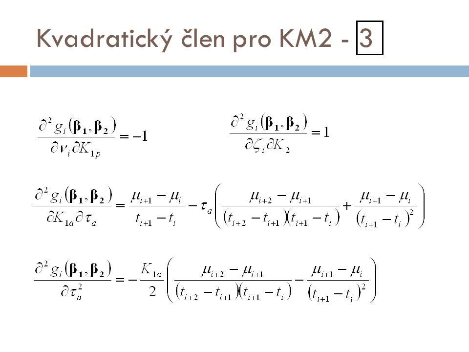 Kvadratický člen pro KM2 - 3