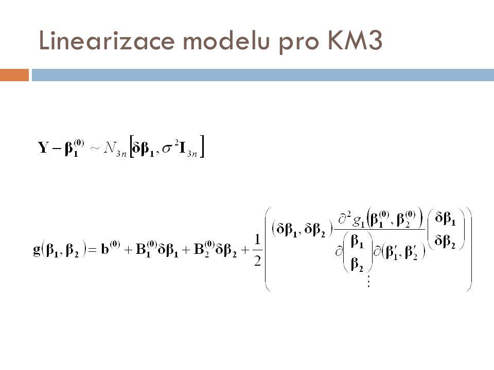 Linearizace modelu pro KM3