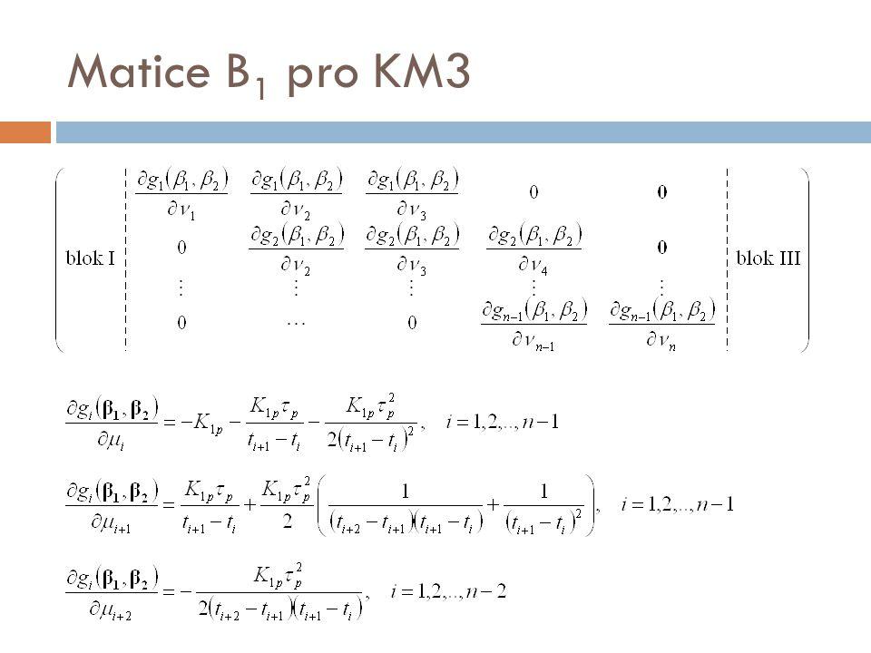 Matice B 1 pro KM3