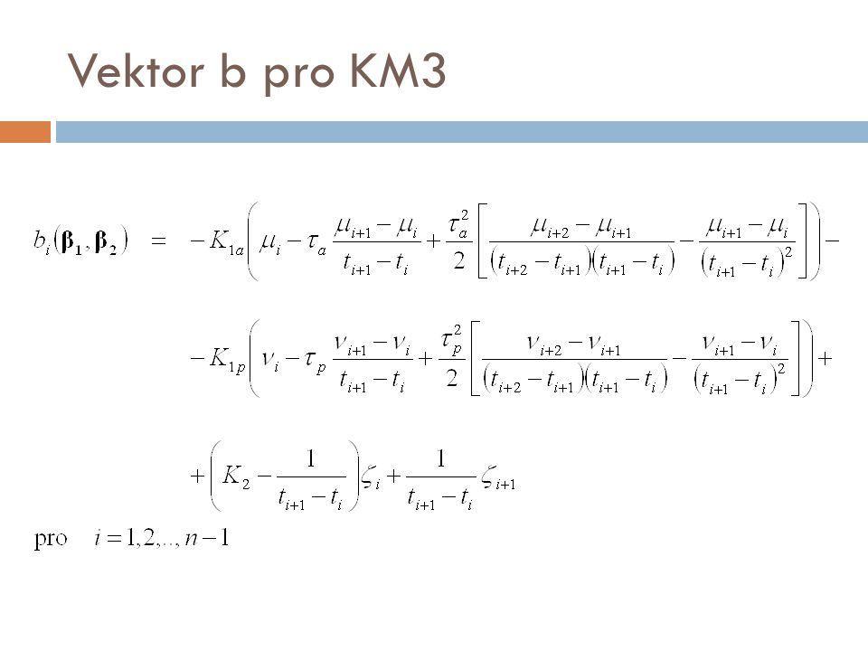 Vektor b pro KM3