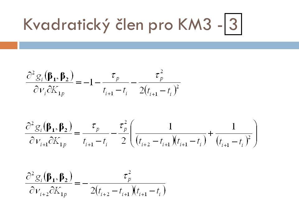 Kvadratický člen pro KM3 - 3