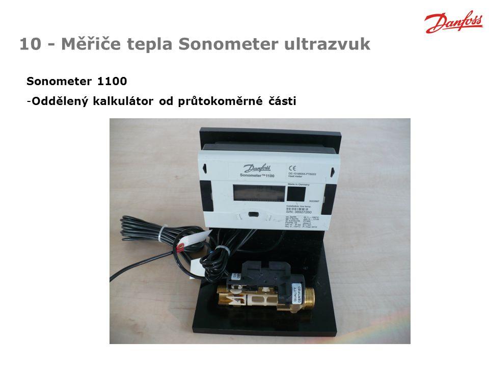 10 - Měřiče tepla Sonometer ultrazvuk Sonometer 1100 -Oddělený kalkulátor od průtokoměrné části