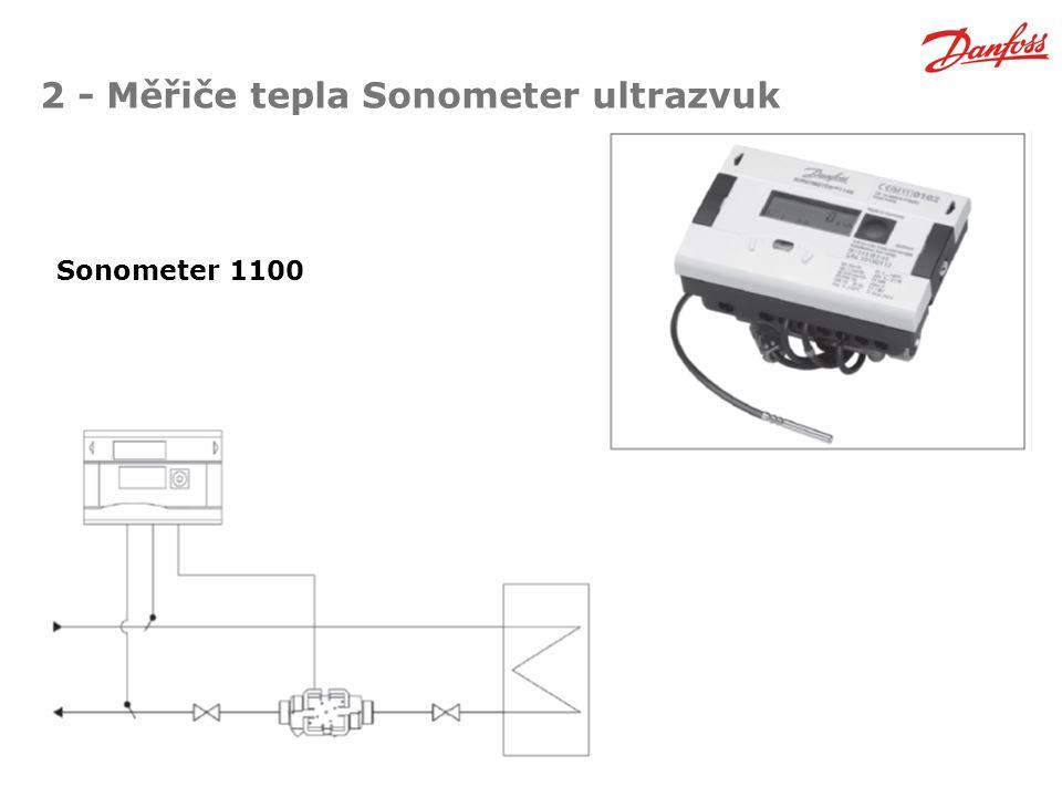 2 - Měřiče tepla Sonometer ultrazvuk Sonometer 1100