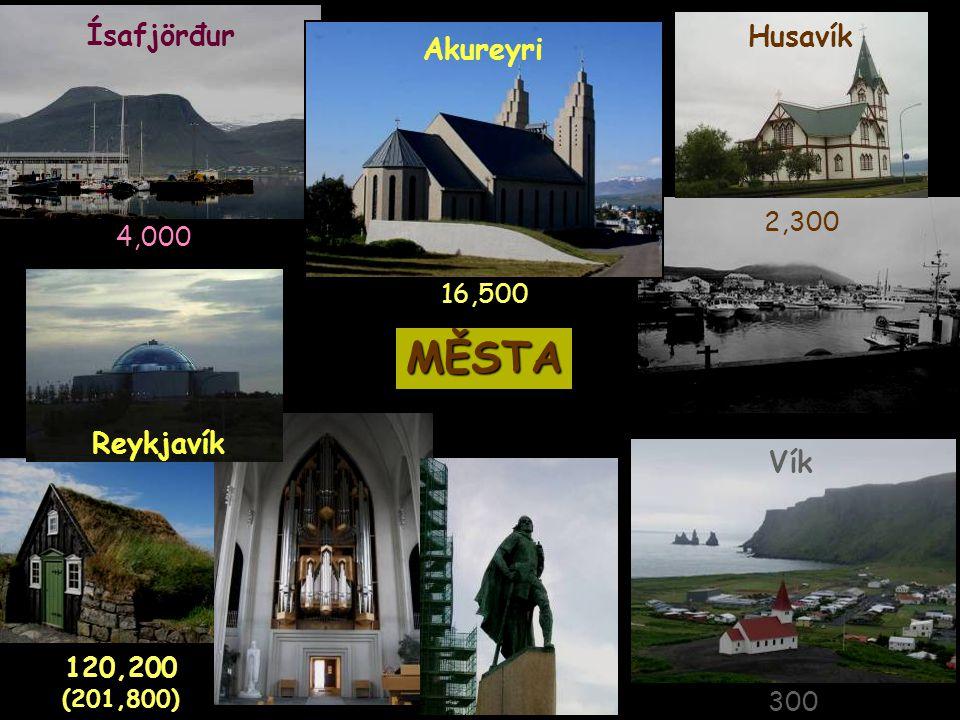 Husavík Ísafjörđur MĚSTA Vík Akureyri 16,500 4,000 300 2,300 120,200 (201,800) Reykjavík