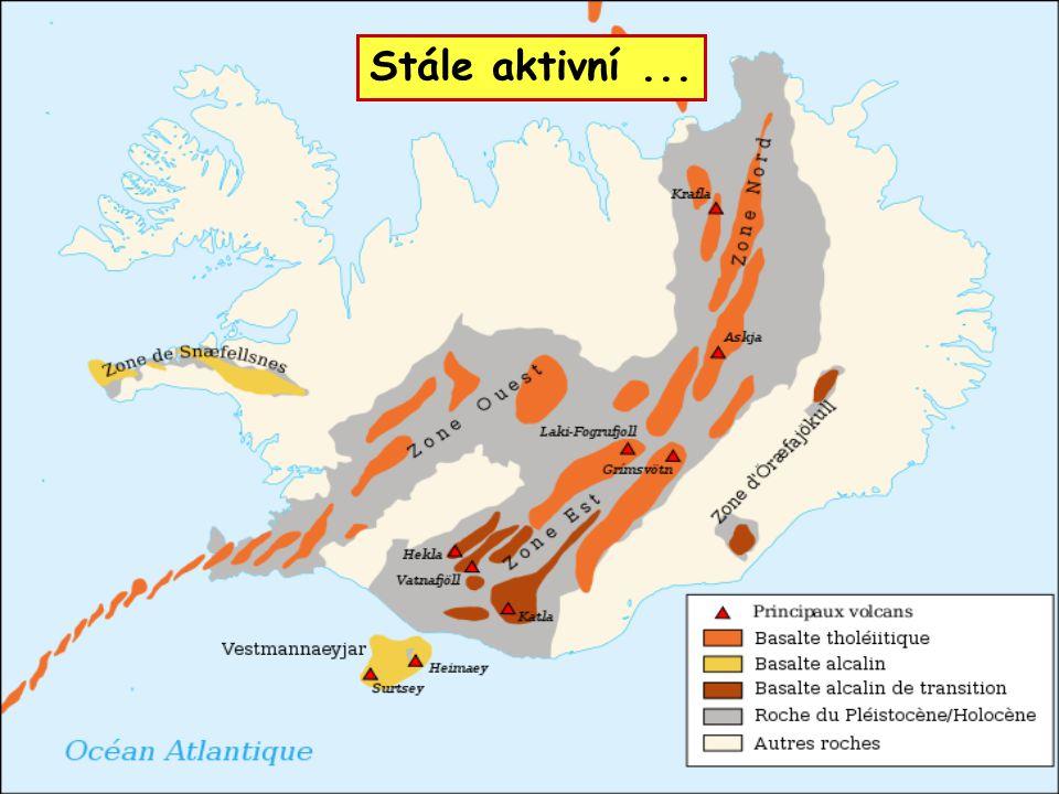 1963 – po podmořské erupci vznikl ostrov Surtsey 1973 – výbuch sopky na ostrově Heimaey častá zemětřesení 1996 – jökulhlaup (povodeň po výbuchu sopky pod ledovcem) STÁLE AKTIVNÍ...