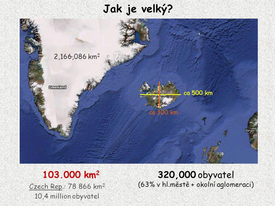 nejvyšší bod Islandu – Hvannadalshnjúkur (2,119 m).
