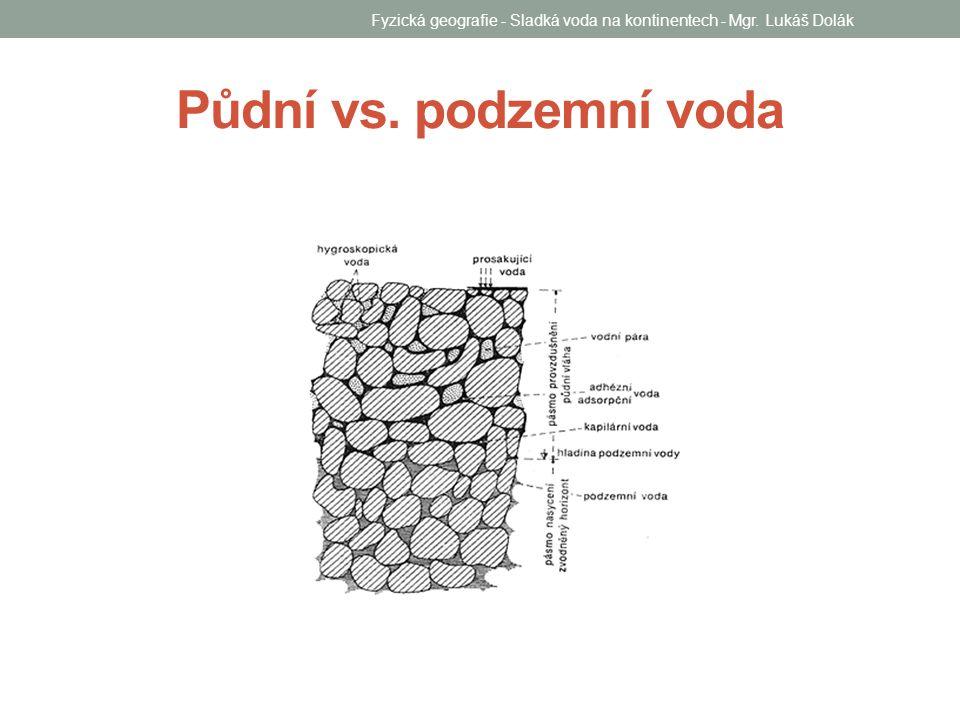 Půdní vs. podzemní voda Fyzická geografie - Sladká voda na kontinentech - Mgr. Lukáš Dolák