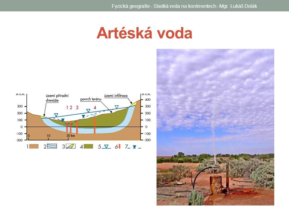 Artéská voda Fyzická geografie - Sladká voda na kontinentech - Mgr. Lukáš Dolák