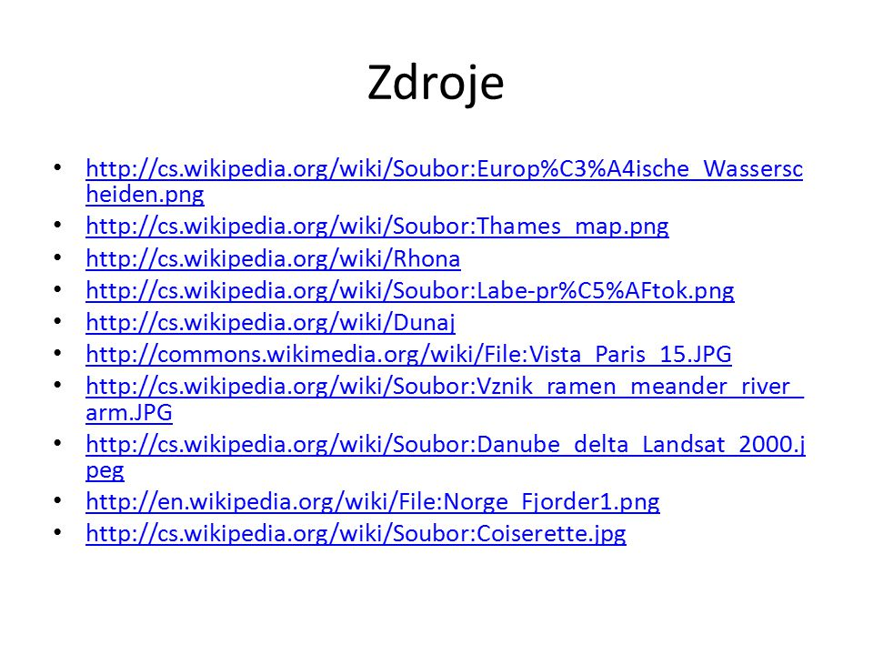 Zdroje http://cs.wikipedia.org/wiki/Soubor:Europ%C3%A4ische_Wassersc heiden.png http://cs.wikipedia.org/wiki/Soubor:Europ%C3%A4ische_Wassersc heiden.p