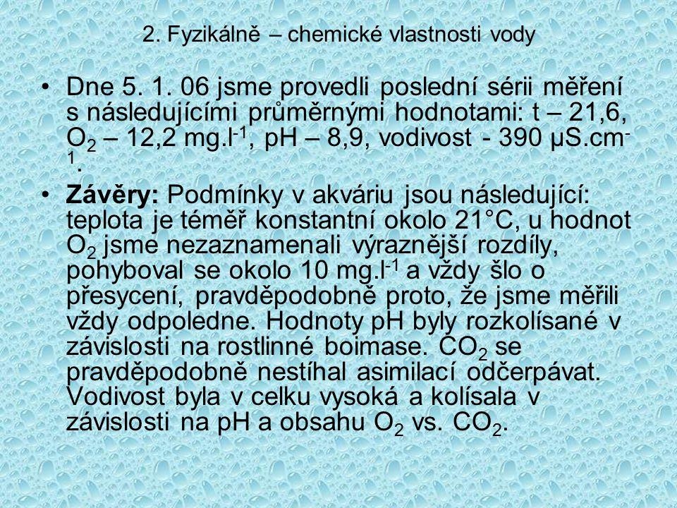 2. Fyzikálně – chemické vlastnosti vody Dne 5. 1.
