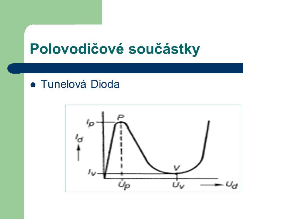 Polovodičové součástky Tunelová Dioda