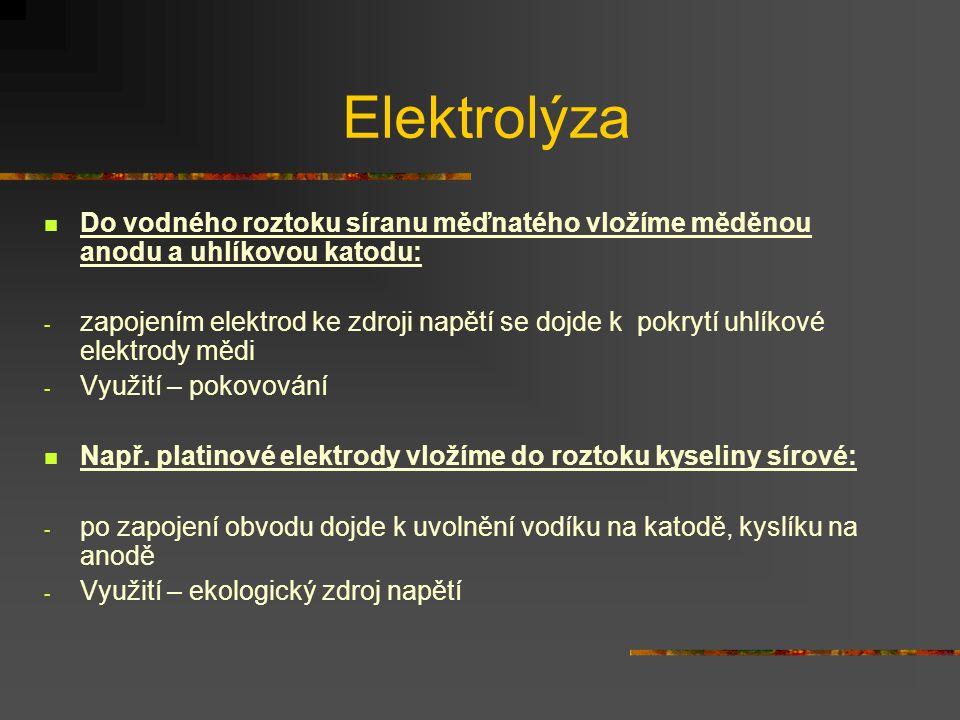 Faradayovy zákony Při vedení el.