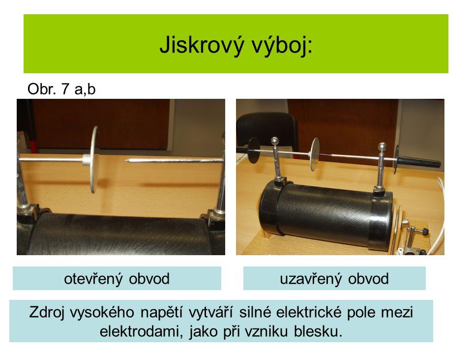 Elektrický výboj v trubicích se zředěným plynem: Zdroj vysokého napětí Trubice se zředěným plynem Obr.