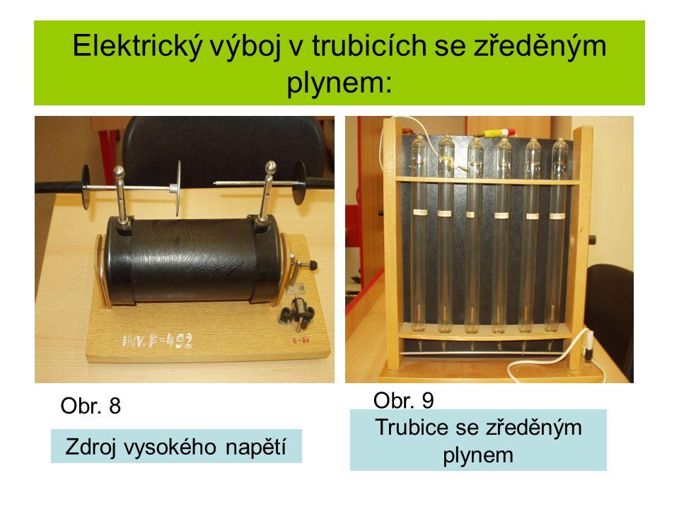 Elektrický výboj v trubicích se zředěným plynem: Obr. 10 Obr. 11