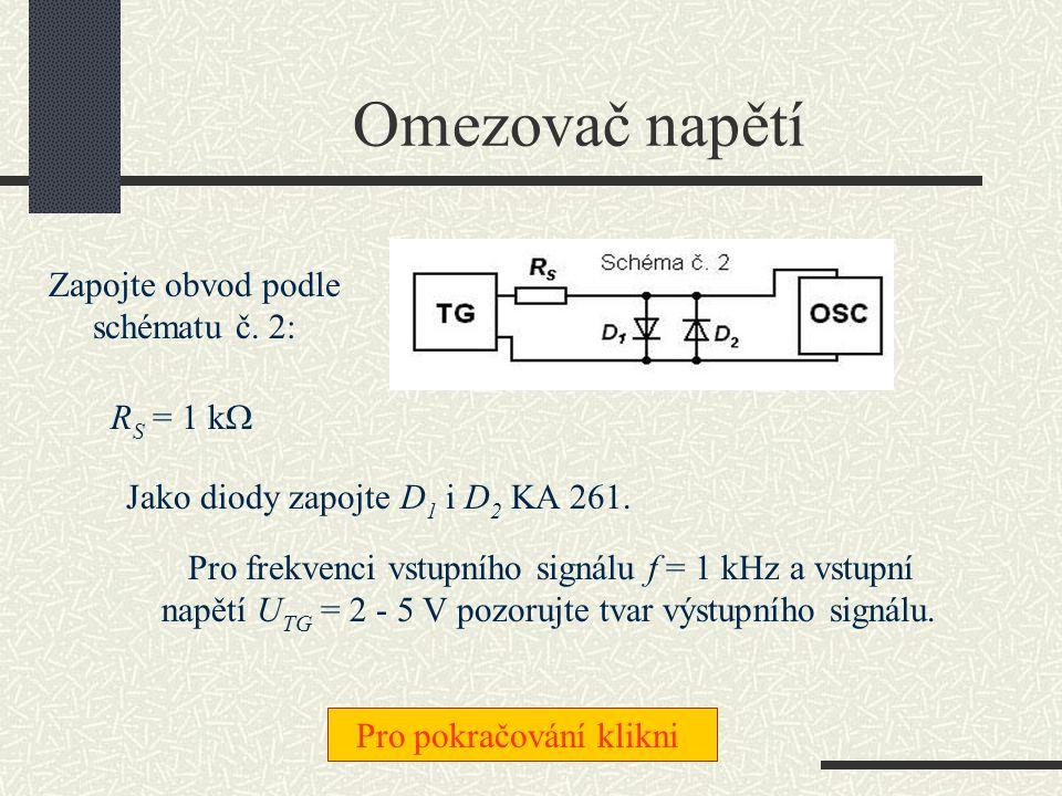 Prahová napětí diod Tyto napětí určíte (doma) z grafů VA charakteristik nebo pomocí digitálního multimetru.