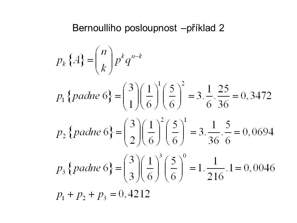 Bernoulliho posloupnost –příklad 2