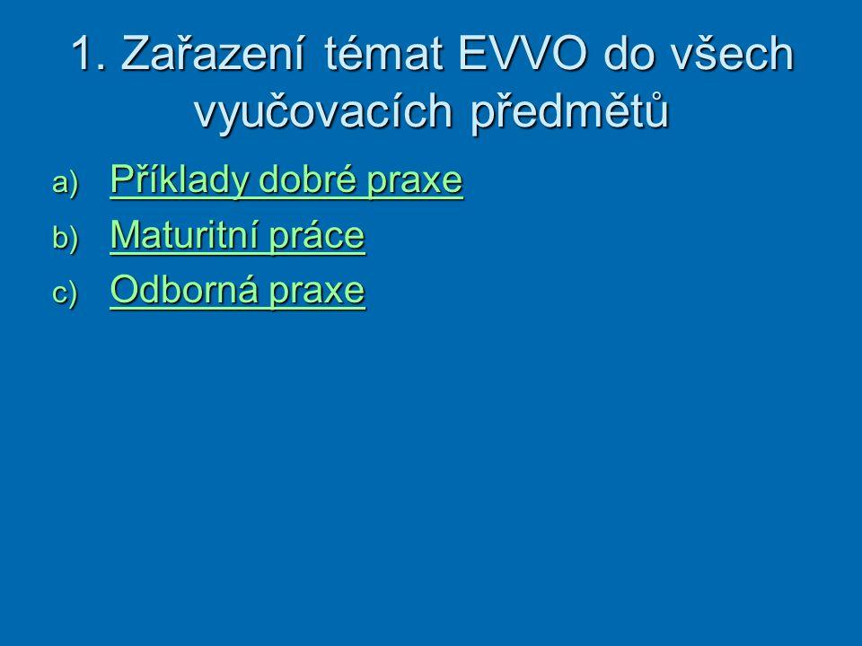 PŘÍKLADY DOBRÉ PRAXE  Aktivity zaměřené k významné události nebo datu týkající se EVVO např.