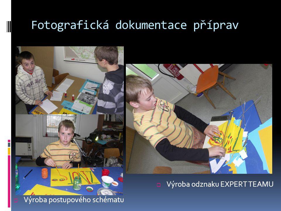 Fotografická dokumentace příprav  Výroba odznaku EXPERT TEAMU  Výroba postupového schématu
