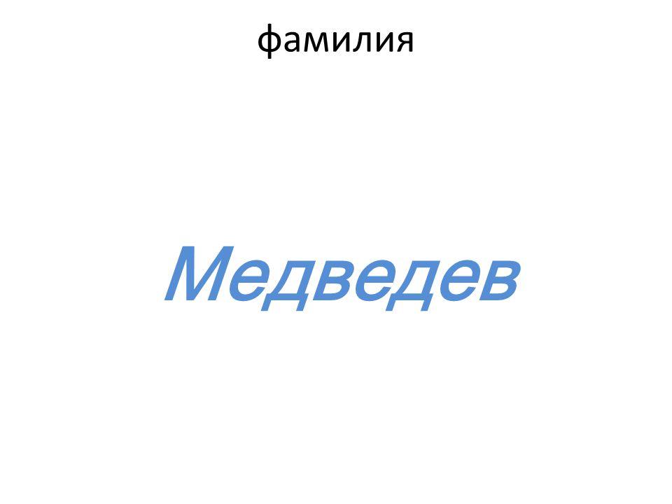 фамилия Медведев