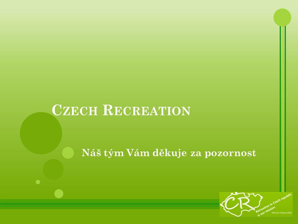 C ZECH R ECREATION Náš tým Vám děkuje za pozornost