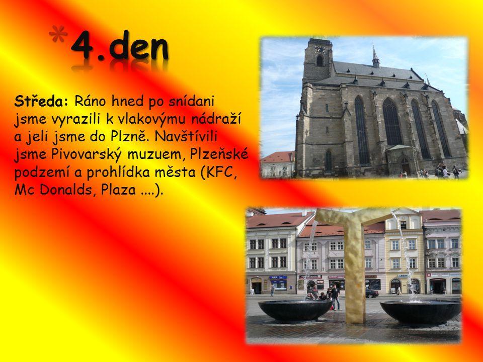 Čtvrtek: Dopoledne 8.ročník a dvě sedmičky měli prohlídku kláštera.Odpoledne 8.ročník připravil bojovku pro mladší ročníky.