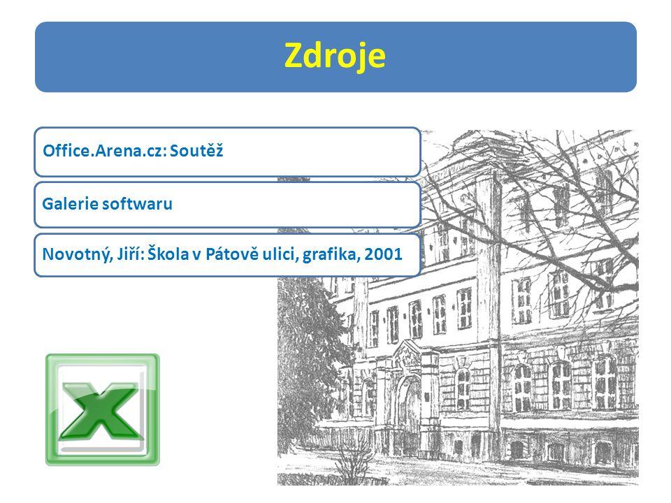 Zdroje Office.Arena.cz: Soutěž Galerie softwaru Novotný, Jiří: Škola v Pátově ulici, grafika, 2001