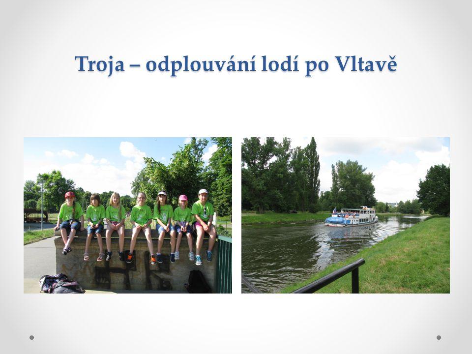 Troja – odplouvání lodí po Vltavě